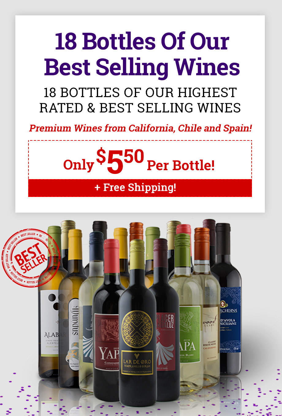 Splash Wines   Spring into this amazing deal and get 12 bottles of ...
